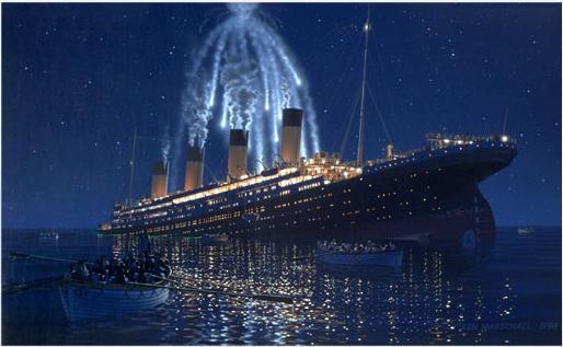 i razzi sparati dal titanic